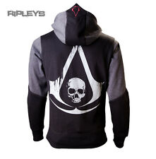 Official ASSASSINS CREED Hoody Hoodie Grey BLACK FLAG Logo All Sizes