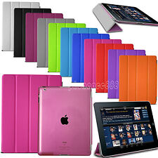 Slim Magnetic PU Leather Stand Smart Cover Back Case For Apple iPad iPad 4 3 2