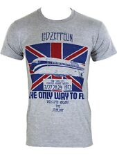 Led Zeppelin The Only Way To Fly Men's Grey T-Shirt - NEW & OFFICIAL