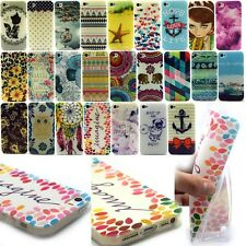 TPU Silicone Print Rubber Soft Cell Phone Back Case Cover For Apple iPhone 4 4S