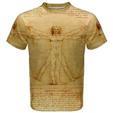 Leonardo Da Vinci Vitruvian Man Sublimated Sublimation T-Shirt S,M,L,XL,2XL,3XL