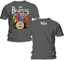 The Beatles Sgt Peppers Lonely Hearts Club Band Adult T-Shirt - Grey