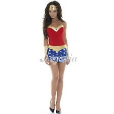 HOT SELL Sexy Women's Costumes Cosplay Party Dress Superhero Wonder Woman Outfit