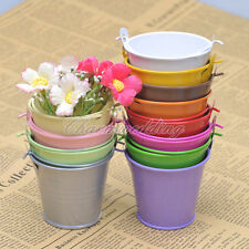 60PCS Colorful Mini Pail Bucket Candy Favor Box Wedding Party Supply Gift Box