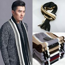 Men's Winter Warm Classical Artificial Wool Tassels Scarf Long Pashmina Shawl