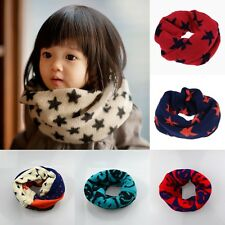 1Pc Christmas Gift Kid Toddler Scarf Knitted Woolen Winter Warmer Scarf Snood