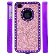 Apple iPhone 5 5S Gem Crystal Rhinestone Light Pink Sparkling Glitter case