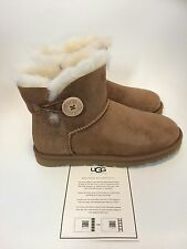 UGG Australia Mini Bailey Button Chestnut Boot women's sizes 5-11/36-42 NEW!!!