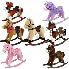 SUPER SOFT ROCKING HORSE KIDS CHILDRENS MOVING MOUTH SOUND EFFECTS PONY HORSES