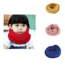 Boy Girl Winter Baby Kids Warm Scarf Wrap Knitted Wool Neck Scarves Xmas Gift
