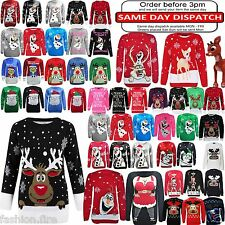 Ladies Mens Womens Kids Boys Girls XMAS Novelty Fair Isle Christmas Jumpers Top