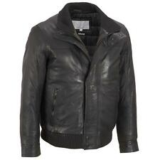Wilsons Leather Mens Big & Tall Double Collar Leather Bomber W/ Zipout Thinsulat