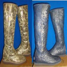 UGG Collection CARMELA Women's Blue Tall Boots Size US 7,EU 38 NEW Made In Italy