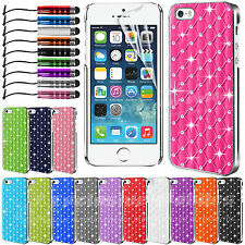 Diamond Bling Chrome Case Cover For APPLE iPhone 5 5S 5C 4 4S Touch 5th 4th Gen