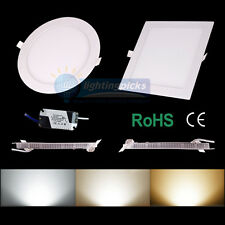 US Stock! 6W/9W/12W/15W/18W/21W Dimmable  LED Recessed Ceiling Panel Down Lights