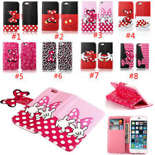 Cute Bow Wallet Stand Card holder Flip leather case cover For iPhone 6 5 5S 4S
