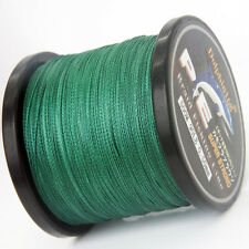 PE 1000M BRAIDED 6-100LB PE STRONG DYNEEMA 4BRAID SEA FISHING LINE SPECTRA GREEN