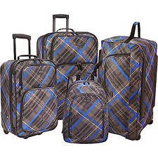 U.S. Traveler Casual 4-Pc Luggage Set 3 Colors
