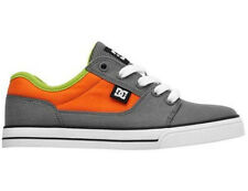 KIDS DC SHOES YOUTH BRISTOL CANVAS GO6 GREY ORANGE child boys skate bmx trainers