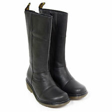 Dr Martens Women's Charla Leather Zip Up Calf Boot Black