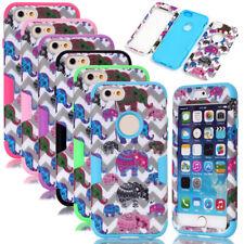 Elephant Wave Matte Pattern Silicone Hybrid Shockproof Case For iPhone 6 /6 Plus