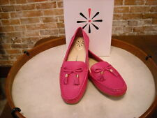 Isaac Mizrahi Amy Pink Pebbled Leather Driving Moccasin NEW