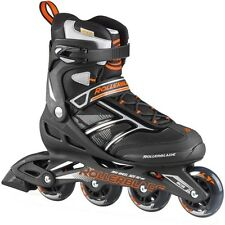 Rollerblade Men's Zetrablade Black/Orange Inline Roller Skate 2015 07503200956