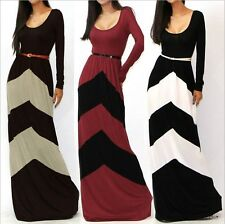 Long Sleeve Slimming Party Cocktail Bodycon Sexy Bohemian Celebrity Maxi Dress
