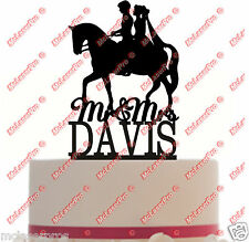 Custom Wedding Cake Topper with a horse - Horse Silhouette - Color Choice