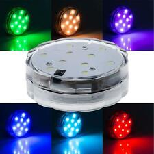 10 LED Multi Color Waterproof Submersible Party Light With Remote Contral New