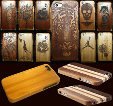 REAL WOOD BAMBOO STRIPES Wooden LUXURY Hard Cover Case Protector for iphone 5C