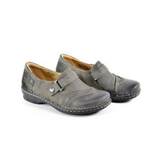 Earth Womens Loafer Shoes  600246WLEA05 Beetlebug Dark Grey Leather