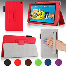 "For 2014 Amazon Kindle Fire HD 6"" PU Leather Case Cover Stand w/ Auto Sleep/Wake"