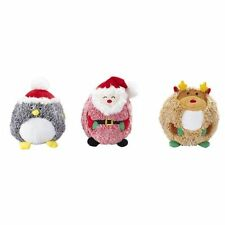 "NEW Holiday Christmas Butterball Santa Penguin Reindeer 6"" Dog Toy"