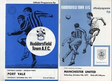 Huddersfield Town HOME programmes 1970s A-H FREE P&P UK Choose from list