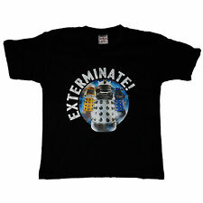 Dr Who Daleks EXTERMINATE Child Kids Youth OFFICIAL Doctor Who Unisex T-Shirt