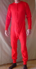 ~ Red UNION SUIT - one piece Long Johns - 100% Cotton - NEW - Slightly Irregular