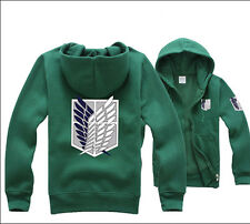 Green Attack on titan / shingeki no kyojin Investigation Hoodies Jackets Coats