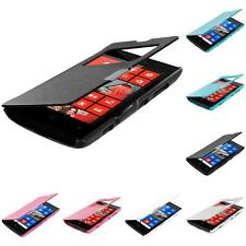 For Nokia Lumia 520 Magnetic Wallet Pouch Cover Flip Case With Window