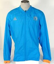 Adidas Running Boston Marathon 2014 Blue Reflective Zip Wind Jacket Mens NWT