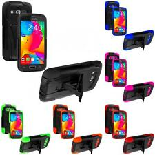 For Samsung Galaxy Avant Hybrid Hard Soft Shockproof Case Cover With KickStand