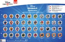 DISNEY INFINITY 2.0 ORIGINALS POWER DISCS MULTIPLE CHOICE RARE AND COMMON