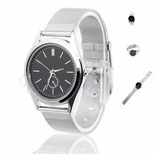 Fashion Casual Luxury Men Women's Stainless Steel Band Quartz Analog Wrist Watch