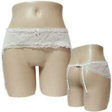 Admcity Small Bows Lace Trim Garterbelt White One Size