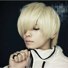 New Men's and Neutral Short Straight Wigs  New Fashion Cosplay Full Wigs NC07