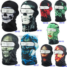3D Cycling Bicycle Motorcycle Skull Cap Balaclava Headgear Hats Full Face Mask