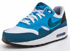 NIKE AIR MAX 1 JUNIORS TRAINERS, SHOES LEATHER/SYNTHETIC SIZE 3.5 to 5.5 WHITE
