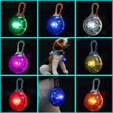 8 Colors Pet Dog Safety LED Clip Buckle Night Light Flashing Collar Pendant