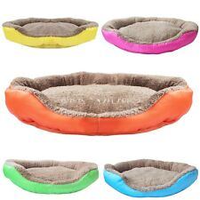 Small/Large Pet Dog Puppy Cat Soft Fleece Warm Bed House Cotton Nest Mat Bed