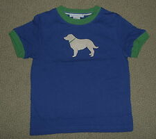NWT JANIE JACK S/S Tee ROWING CREW Pick Size DOG applique Top Blue FREE USA SHIP